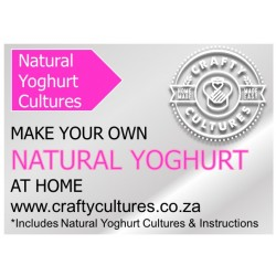 Natural Yoghurt Starter (sets up to 50 liters of Yoghurt)