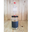 Fermentation bottle with airlock and bung